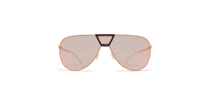 MYKITA PEPPER MH8 Ebony Brown/Champagne Gold